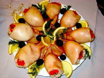 Кальмары фаршированные рецепты