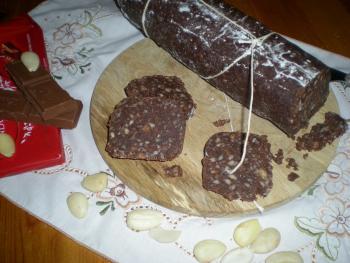 Колбаса шоколадная