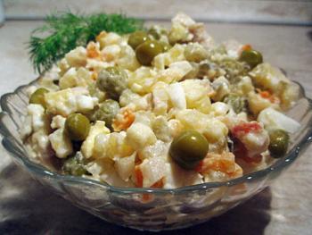 Рецепт оливье