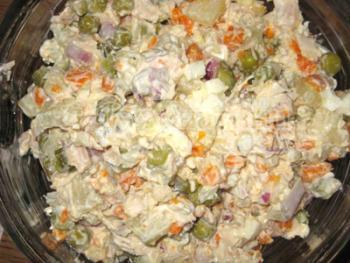 Рецепт салат оливье