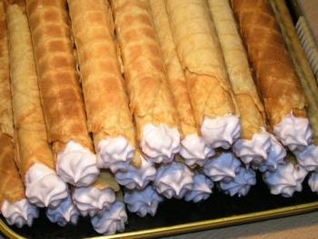 Рецепт вафельных трубочек