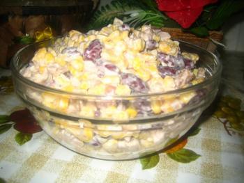 Салат нежность с курицей