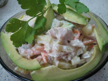 Салаты  с авокадо рецепт