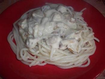 Соус для спагетти сливочный