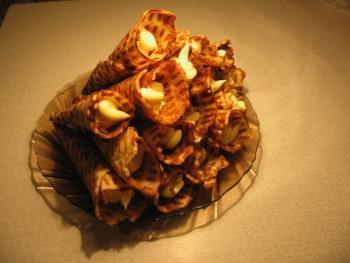 Вафельные трубочки рецепт