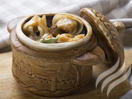 Рецепт пельмени в горшочках