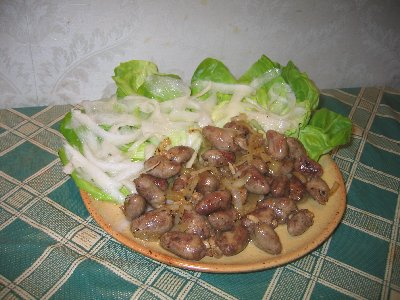Куриные желудочки рецепт
