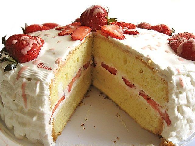 бисквитный торт со сметанным кремом фото рецепт