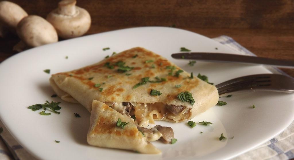 блинчики мясом грибами рецепт фото