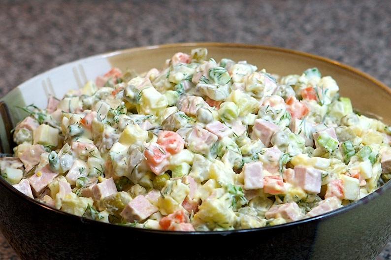 салат столичный с курицей рецепт классический с фото