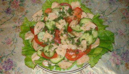 Салат с печенью трески рецепт