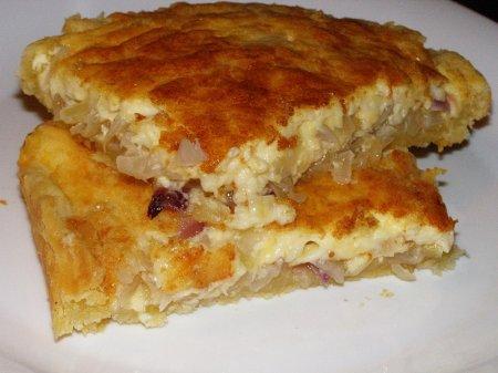 Пирог луковый рецепт