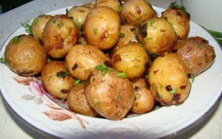 Картошка в микроволновке