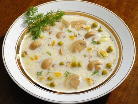Суп с шампиньонами рецепт