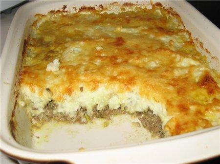 Мясная запеканка с картофелем рецепт с фото