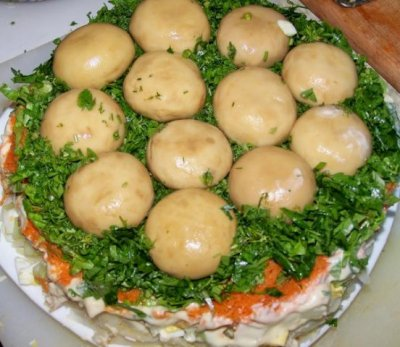 Салат полянка
