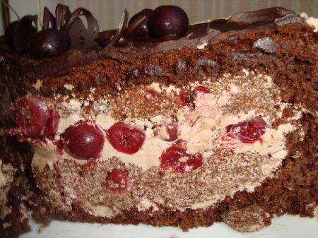 Пьяная вишня торт