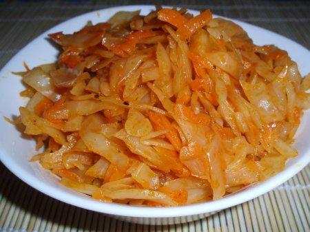 Рецепт капусты тушеной