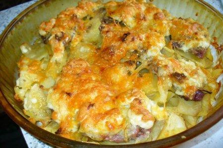 Рецепт: мясо по французски с картофелем