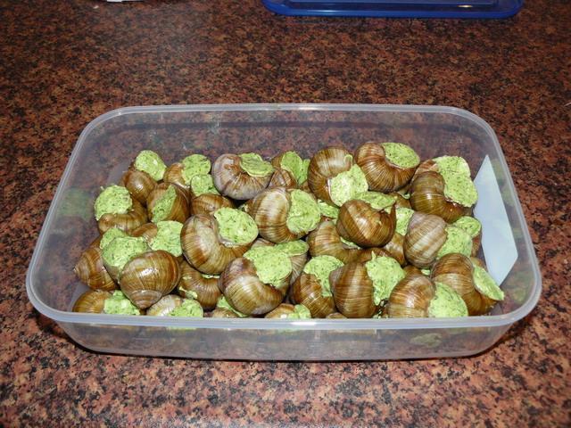 как приготовить виноградных улиток