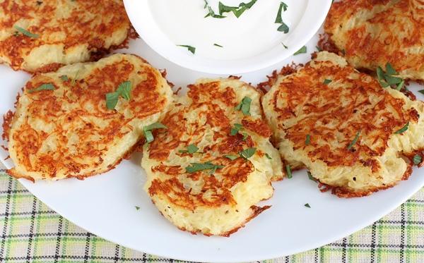 Картофельные оладьи с грибами пошаговый рецепт с
