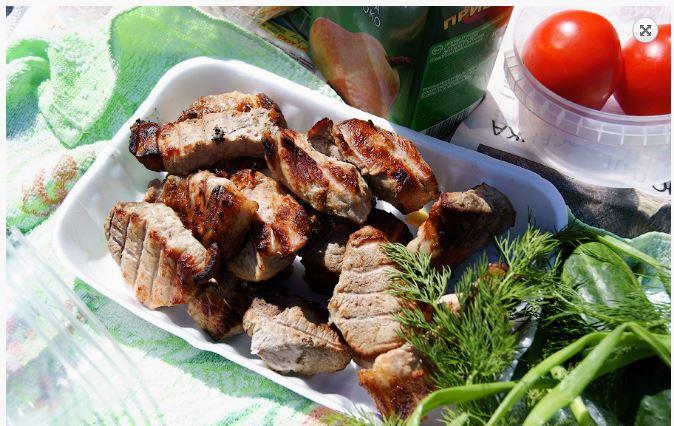 Шашлык из свинины с минералкой рецепт