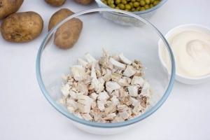 Салат гнездо глухаря рецепт с фото