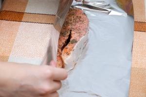 Запеченная семга в духовке