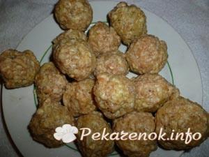 Картошка фаршированная мясом с фрикадельками