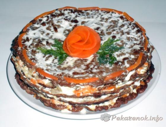 Торт из свиной печени «Вкусный»