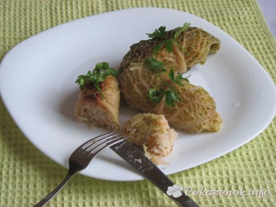 Домашние голубцы из савойской капусты