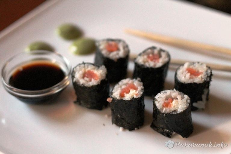 Роллы с семгой, пошаговые рецепты приготовления