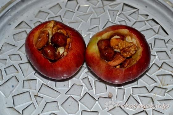 Яблоки в микроволновке