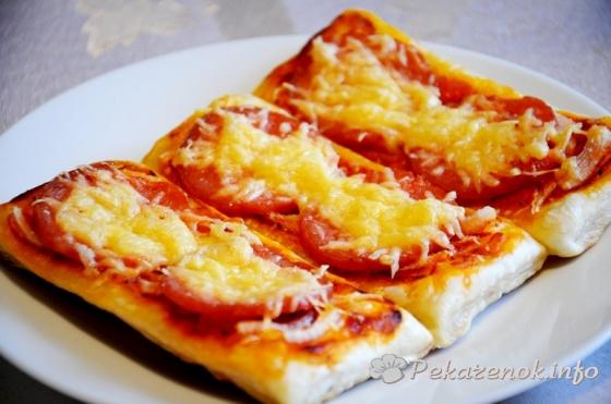 Мини-пиццы с колбасой