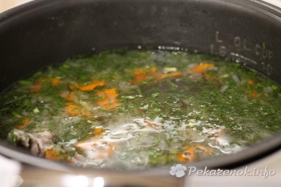 Куриный суп с паутинкой