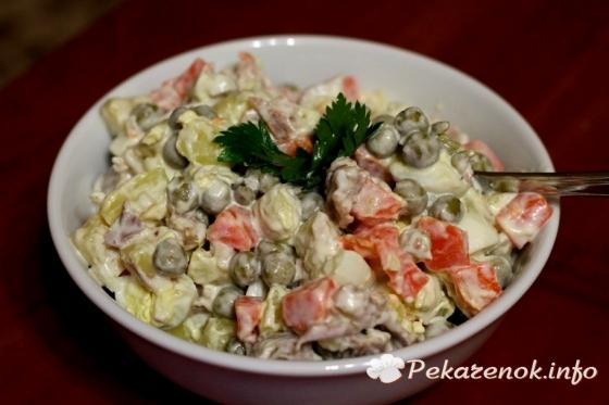 Горячие салаты рецепты с фото с грибами и