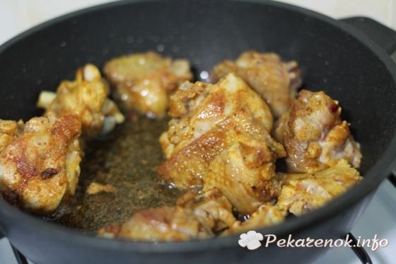 Куриные голени в пряном соусе