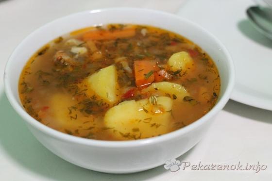 Быстрый суп из баранины