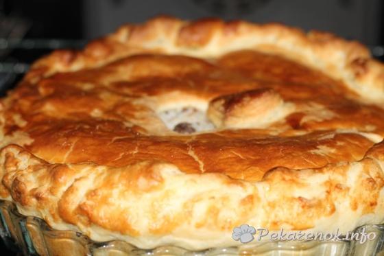 Пирог с рисом и курицей
