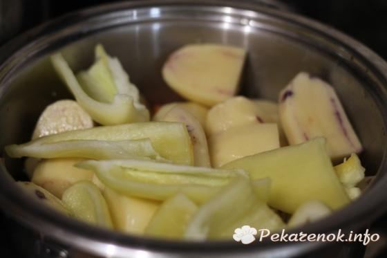 Говядина с овощами в собственном соку